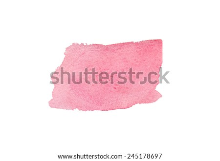 Pink Watercolor brush stroke - stock photo