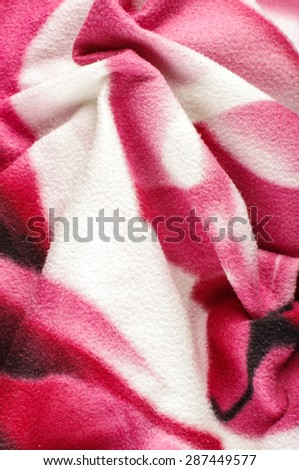 Pink wavy soft wool fabric background - stock photo