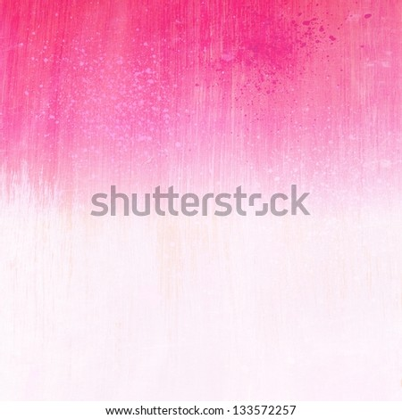 Pink white acrylic paint background texture paper - stock photo