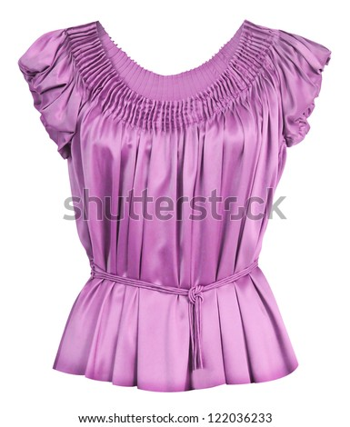 pink women blouse - stock photo