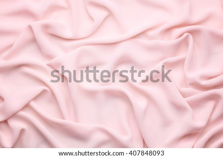 pink wrinkled silk cloth - stock photo