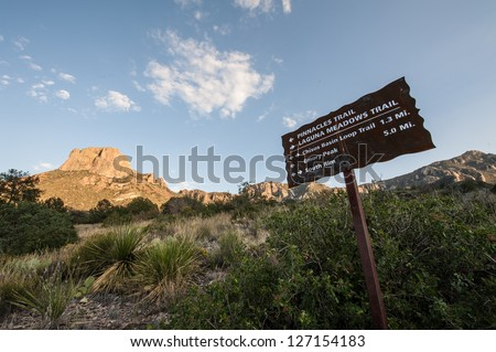 Pinnacle Trail at Big Bend - stock photo