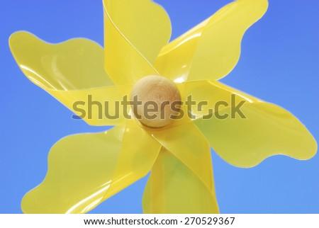 Pinwheel Yellow - stock photo