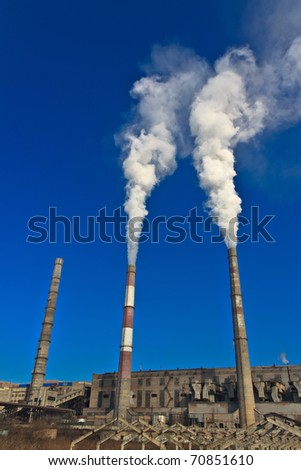 Pipe City hydropower station - stock photo