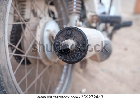 Pipe old car - stock photo