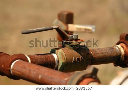 Pipe valve - stock photo