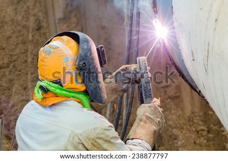Pipe welder 1 - stock photo