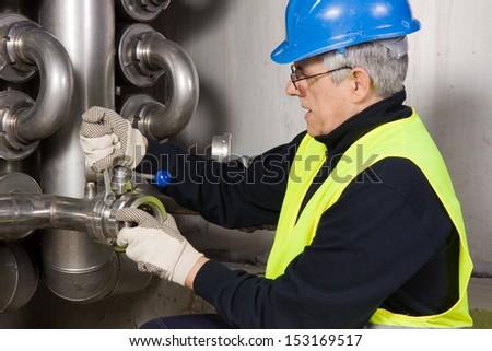 pipeline craftsman - stock photo