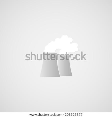 Pipes plant illustration - stock photo