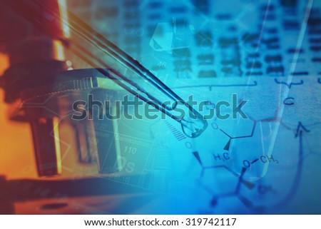 Pipette. Laboratory concept. - stock photo