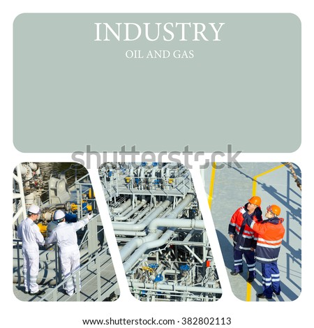 Piping Upstream Process oil and gas. Oil And Gas Industry - stock photo
