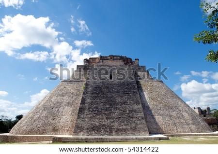 Piramide del Adivino, Uxmal, Yucatan, Mexico - stock photo