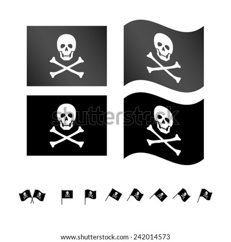 Pirate Flags - stock photo