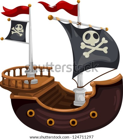 Pirate ship.jpg- (eps vector id 104280869) - stock photo