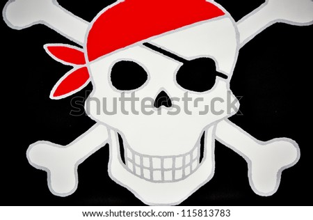 Pirate wallpaper - stock photo