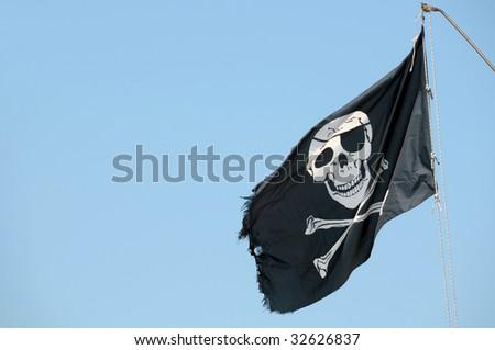 Pirates flag - stock photo