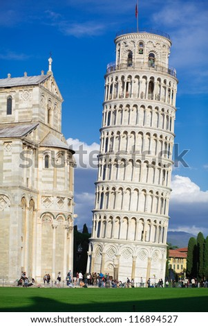 Pisa leaning tower - stock photo