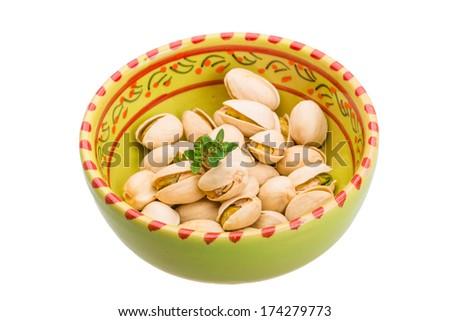 Pistachio isolated - stock photo