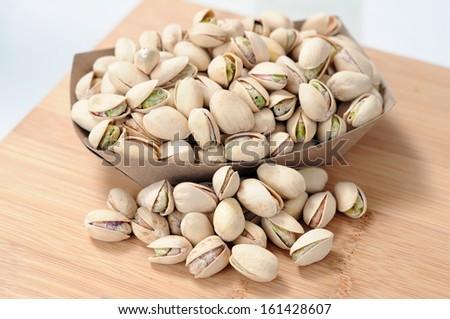 pistachio on table - stock photo