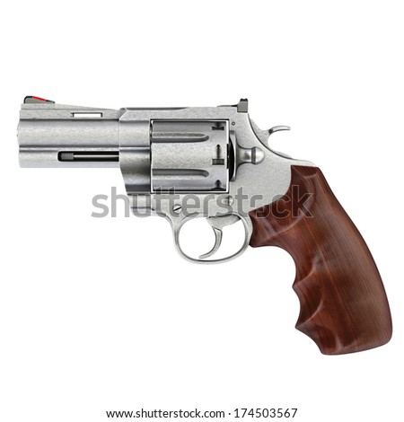 pistol isolated on white background. - stock photo