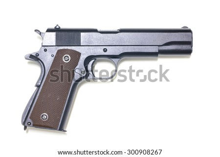 Pistol isolated on white background - stock photo