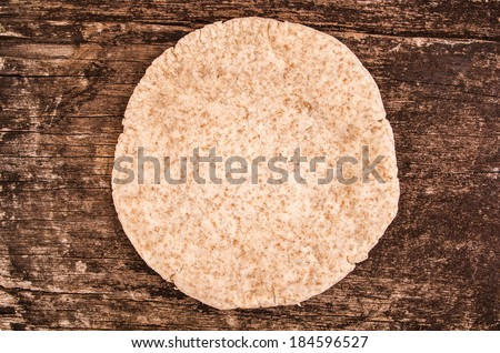 pita bread traditional hand made - stock photo