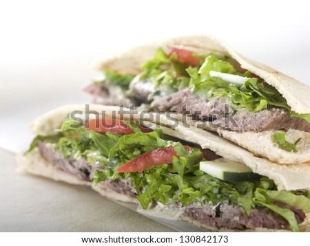 Pita Sandwich/Gyros - stock photo