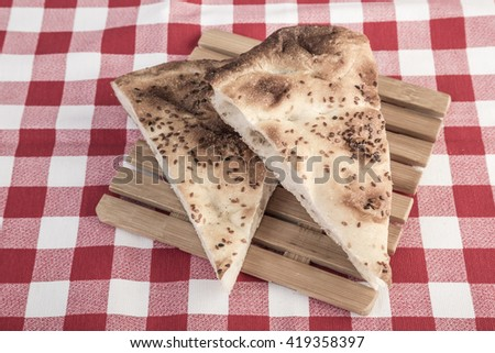 pitta bread - stock photo