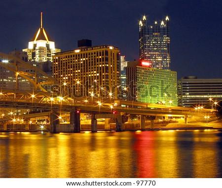 Pittsburgh at Night - stock photo