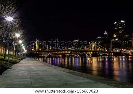 Pittsburgh Bike Trail - stock photo