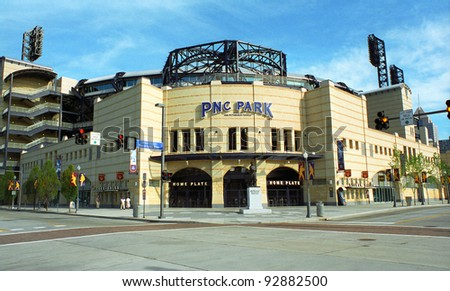 PITTSBURGH - SEPTEMBER 12: PNC Field, baseball home of the Pirates on September 12, 2001 in Pittsburgh, Pennsylvania. Opened in 2001, PNC seats 38,362 and cost $216 million. - stock photo