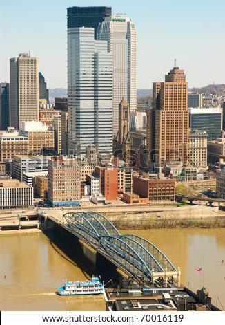 Pittsburgh skyline - stock photo