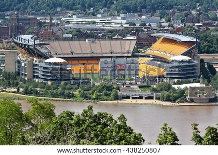 PITTSBURGH, USA - JUNE 29, 2013: Heinz Field view in Pittsburgh. It is primarily stadium of famous Pittsburgh Steelers football team. - stock photo