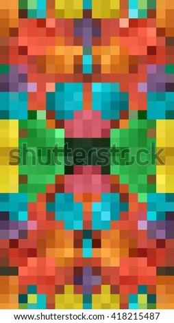Pixel bright abstract illustration. Background pattern - stock photo