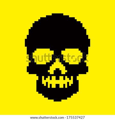 Pixel Skull Stock s &