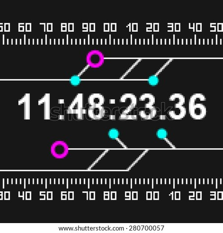 Pixel texture of timer. - stock photo