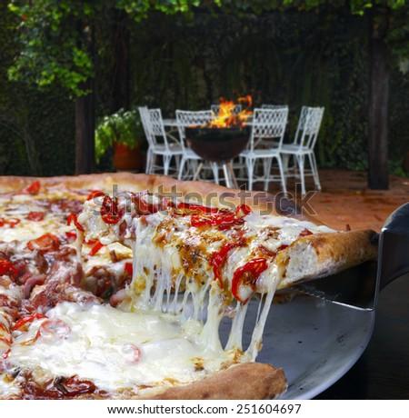 Pizza - stock photo