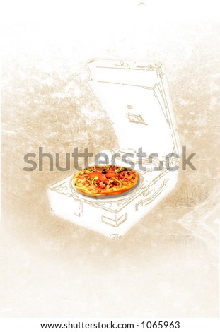 Pizza and music - stock photo