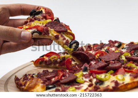 pizza background - stock photo