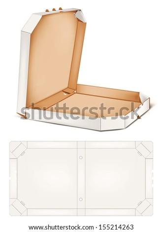 Pizza box. Rasterized illustration. Pizza box. Rasterized illustration. Vector version in my portfolio - stock photo