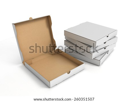 3d box stacked white stock photos images pictures shutterstock - La boite a pizza perigueux ...