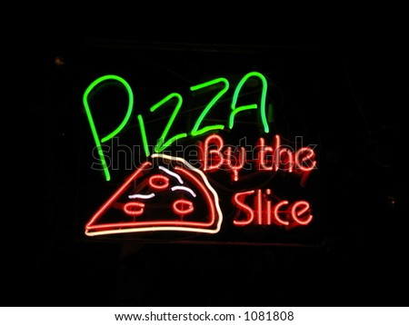 Pizza by the Slice - stock photo