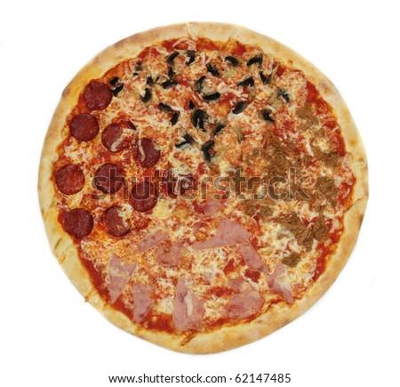 Pizza close-up - stock photo