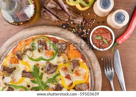 Pizza Derevenskaya - stock photo