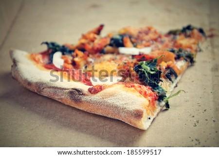 pizza in a box - stock photo