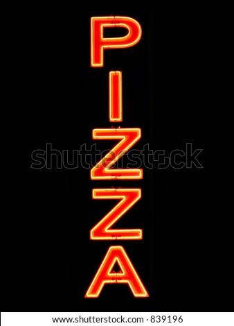 Pizza neon sign - stock photo