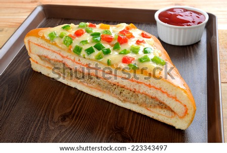Pizza Sandwich-3 - stock photo