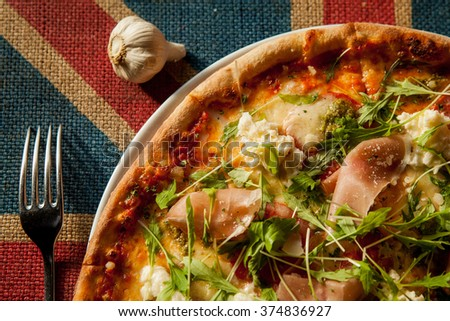 Pizza Served  - stock photo