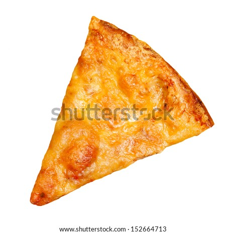 Pizza Slice isolated on white background - stock photo