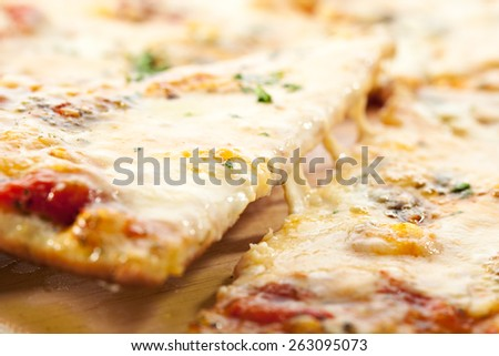 Pizza with Various Type of Cheese - stock photo
